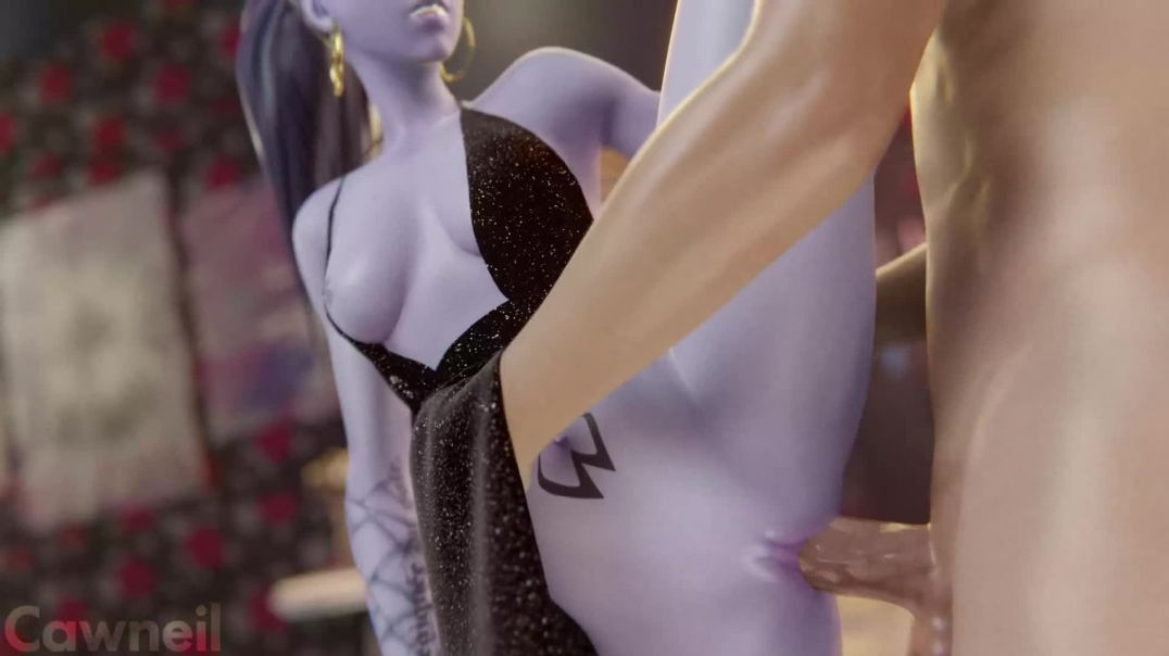 Widowmaker Mercy and Ashe fucked at fancy party