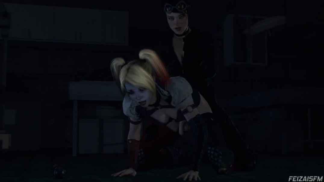Catwoman Fucks Harley Quinn (Futa)